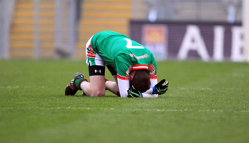 AIB GAA Football All Ireland Senior Club Championship Final 17/3/2011 St. Brigid's vs Crossmaglen Rangers A dejected Gearoid Cunniffe of St. Brigid's at the final whistle Mandatory Credit ©INPHO/Donall Farmer