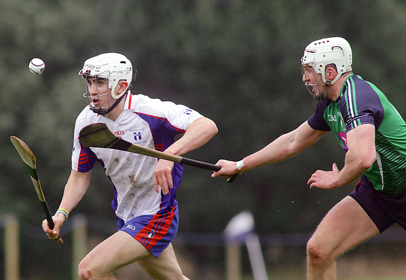 Independent.ie Higher Education GAA Fitzgibbon Cup Semi-Final, Dangan, Galway 24/2/2017 Mary Immaculate College Limerick vs Limerick IT Limerick IT's Barry O'Connell and Aaron Gillane of Mary I Mandatory Credit ©INPHO/Mike Shaughnessy