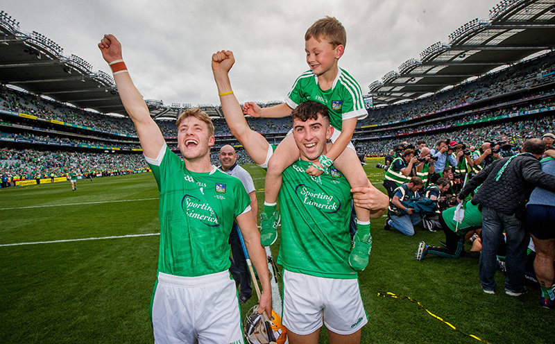 GAA All-Ireland Senior Hurling Championship Final, Croke Park, Dublin 19/8/2018 Galway vs Limerick Limerick's Seamus Flanagan and Aaron Gillane celebrate after the game Mandatory Credit ©INPHO/Ryan Byrne