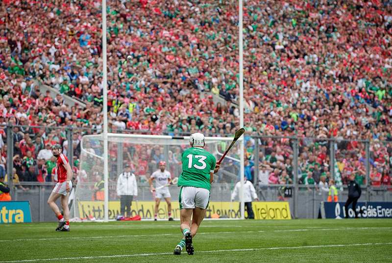 GAA Hurling All-Ireland Senior Championship Semi-Final, Croke Park, Dublin 29/7/2018 Cork vs Limerick Limerick's Aaron Gillane scores a late free to put his side ahead Mandatory Credit ©INPHO/Ryan Byrne