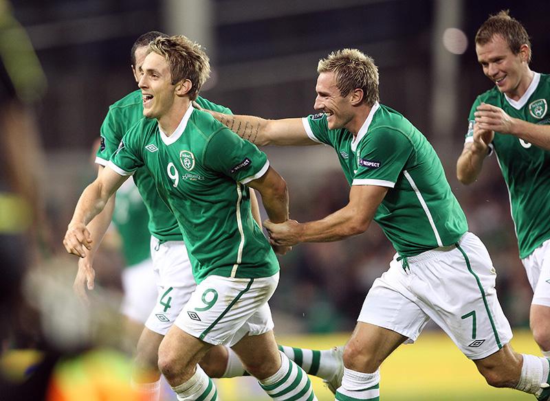 UEFA Euro 2012 Qualifier 7/9/2010 Republic of Ireland vs Andorra Kevin Doyle celebrates after scoring Ireland's second goal Mandatory Credit ©INPHO/Lorraine O'Sullivan