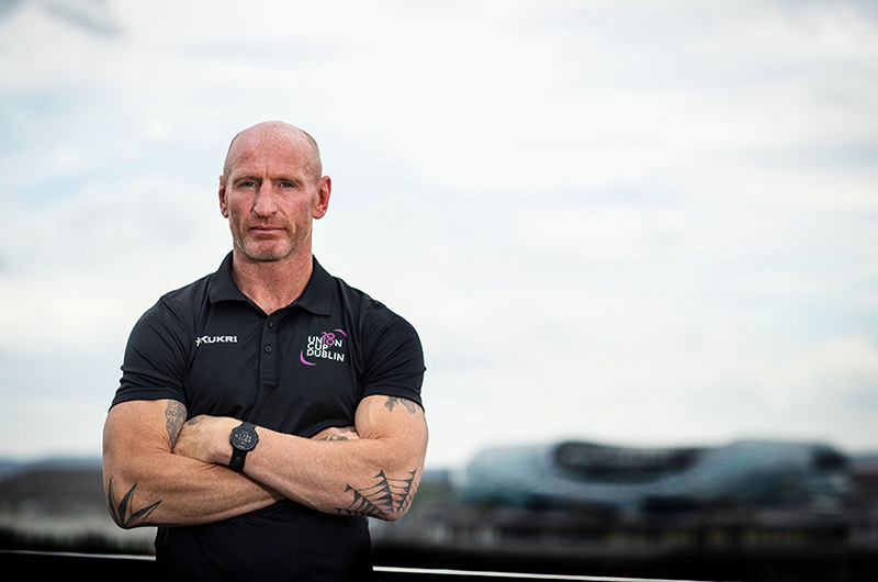 Gareth Thomas, lands in Dublin to support Europe's biggest LGBT+ inclusive rugby tournament which takes place in Dublin, Ireland Pride 30/5/19 Credit ©INPHO/Bryan Keane