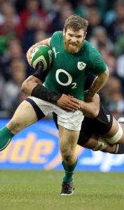 Gordon D'Arcy tackled by Ma'a Nonu during the 2013 Guinness Series
