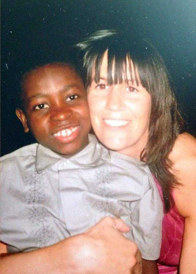 Boidu Sayeh and his aunt Hilary Kinahan shortly after moving to Ireland ©Hilary Kinahan