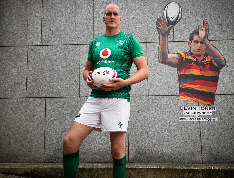 Devin Toner at the Energia AIL & Irish Rugby Partnership Launch, Energia Park, Dublin 26/6/2019 Energia partnership with IRFU announcement. Mandatory Credit ©INPHO/Billy Stickland