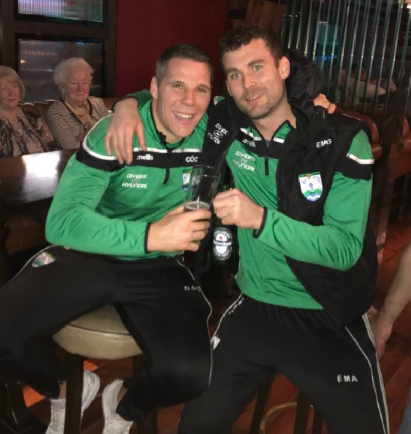 Gaobh Dobhair team mates Kevin Cassidy and Eamon McGee