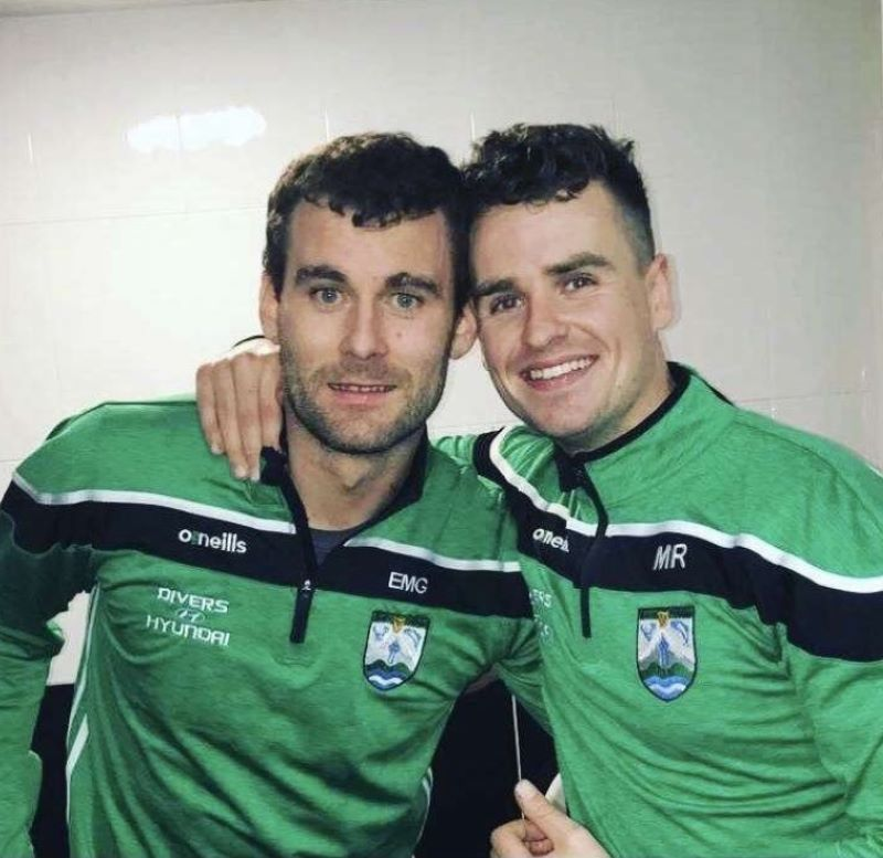 Gaoth Dobhair team mates Eamon McGee and Michael Roarty