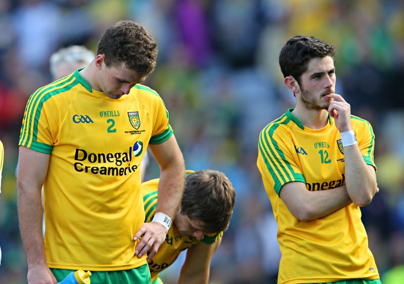 GAA Football All Ireland Senior Championship Final, Croke Park, Dublin 21/9/2014 Donegal vs Kerry A dejected Eamonn McGee and Ryan McHugh of Donegal after the game