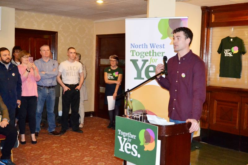 Eamon McGee at the Together For Yes Campaign Launch, Jackson's Hotel Balybofey Co. Donegal, 21st April 2018 © DonegalDaily.com