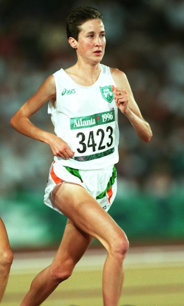 Catherina McKiernan in the Women's 10,000 metres, Atlanta, Olympic Games 199