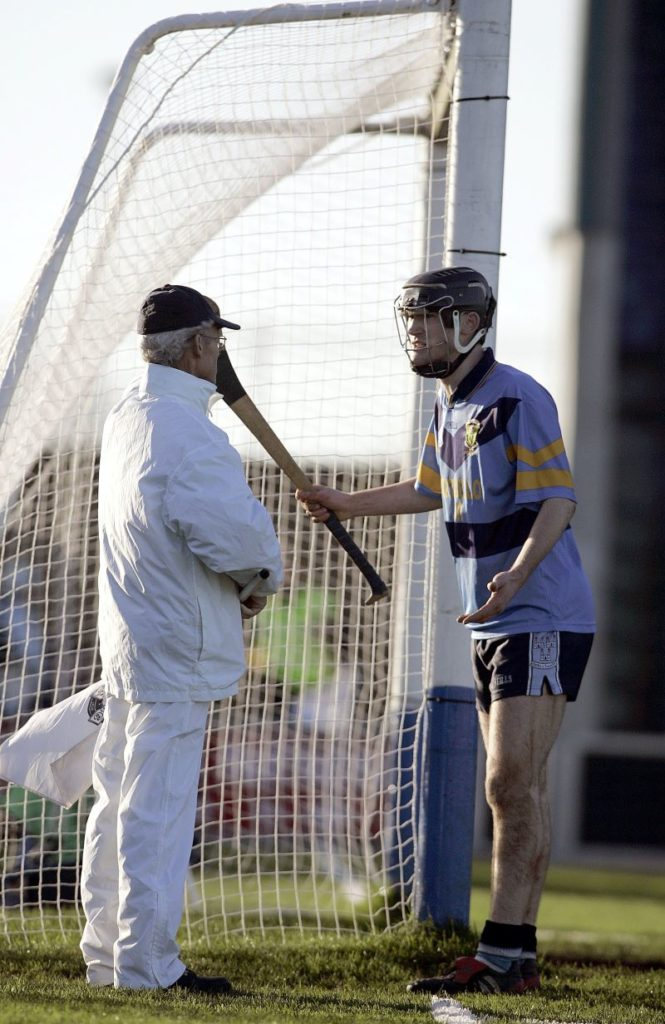 UCD's Eddie Campion argues with the umpire over Richie Hayes point ©INPHO/ Tom Honan
