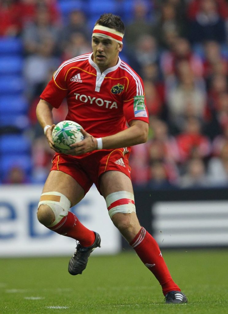 Niall Ronan in action for Munster v London Irish, Heineken Cup, 2010 ©INPHO/Billy Stickland