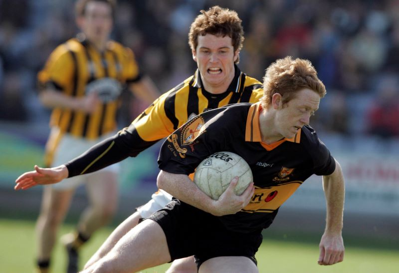 Dr.Crokes's Colm Cooper marked by Crossmaglen's Paul Kernan, AIB All Ireland Club Football Final 2007 ©INPHO/Tom Honan