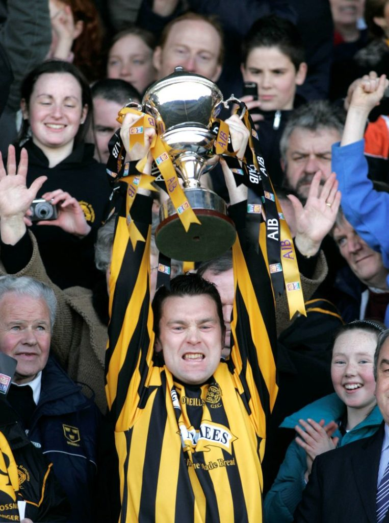 Crossmaglen's Oisin McConville lifts the cup after the AIB All Ireland Club Football Final Replay 2007 ©INPHO/Tom Honan