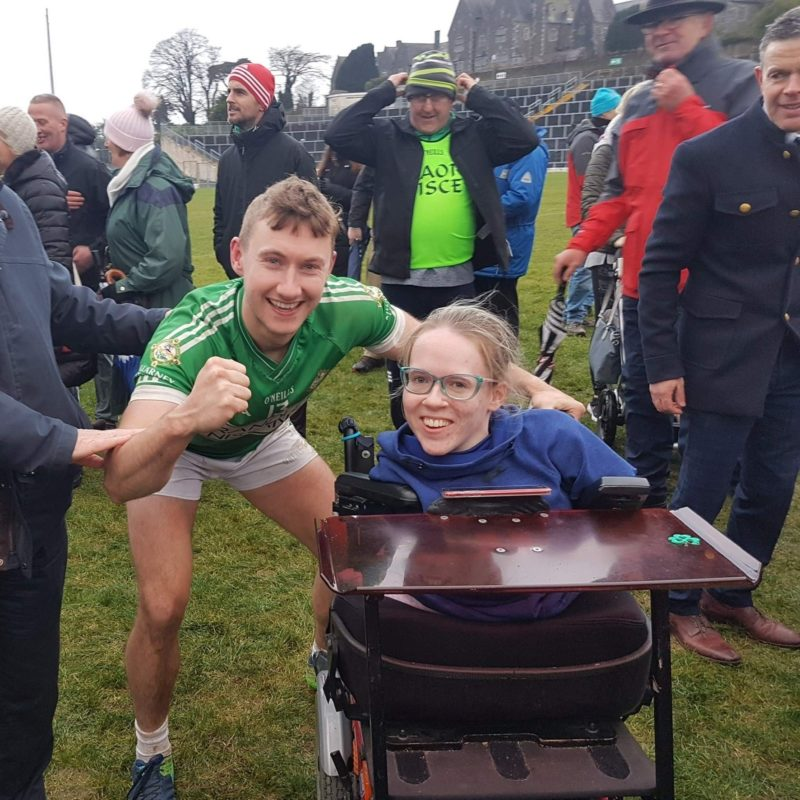 Killarney Legion and Kerry footballer James O'Donoghue pictured with Joanne after the 2019 East Kerry Final. © Joanne O'Riordan