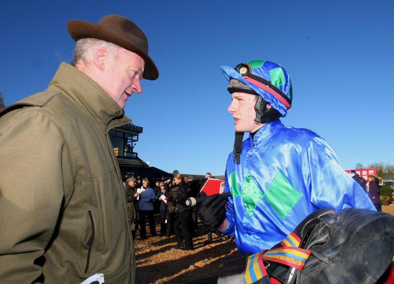 Willie Mullins with Paul Townend at the Fairyhouse Festival 30/11/2008 ©INPHO/Dan Sheridan