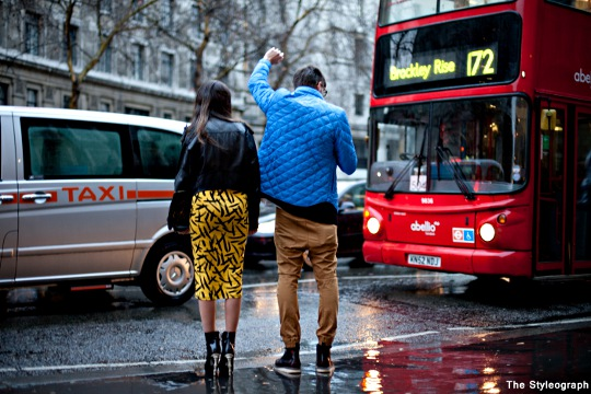 London Fashion Week Street Style Raincoat Women