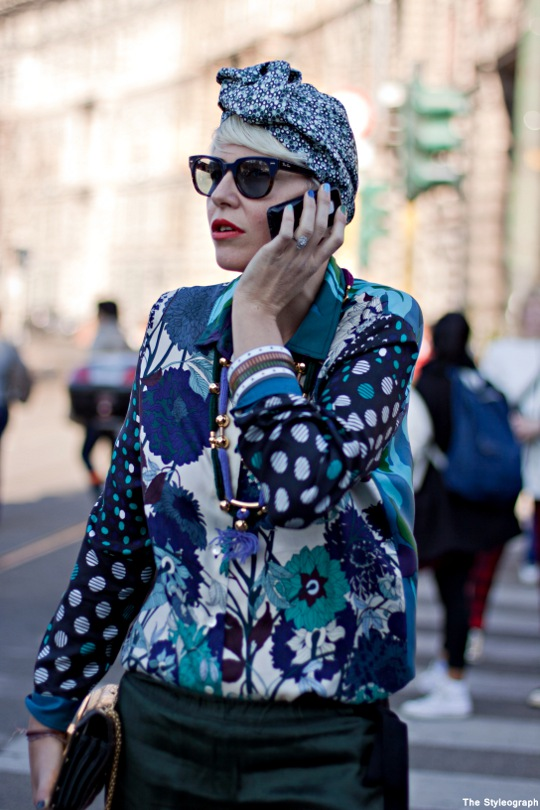Milan Fashion Week Street Style Elisa Nalin Colours Floral Print