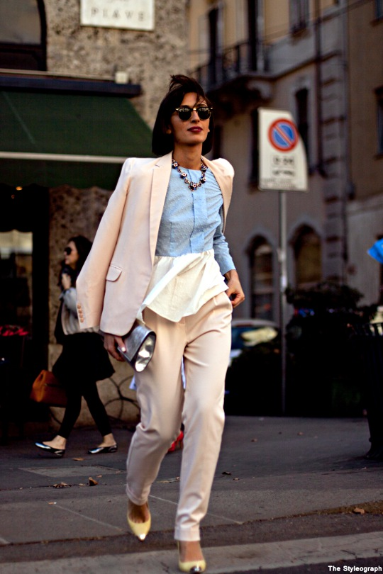 Milan Street Style Fashion Week Natuka Karkashadze On the street
