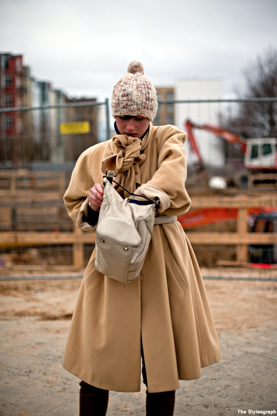 Women Streetstyle Berlin Fashion Coat Mauerpark Flea Market