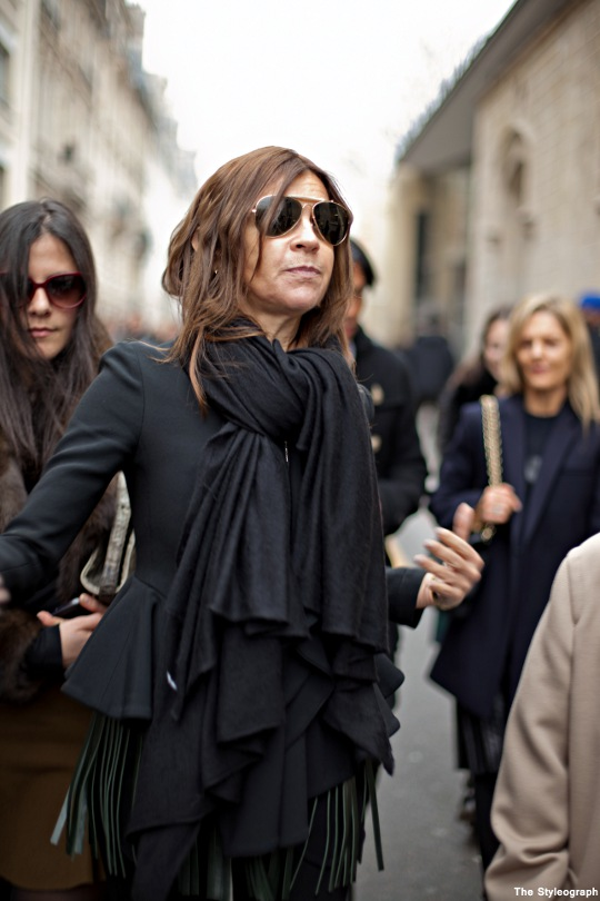 Paris Fashion Week Street Style Carine Roitfeld Vogue