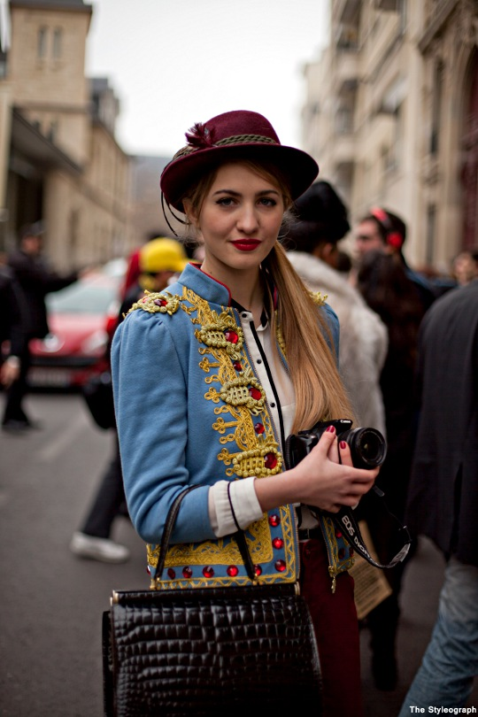 Spring Street Style Paris Ruby Colour Hat Women