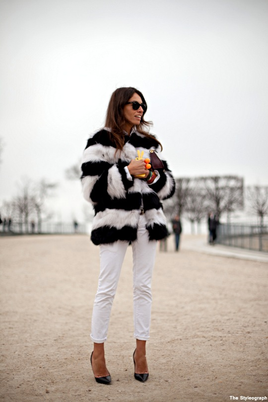Fashion Week Paris Street Style Viviana Volpicella Coat