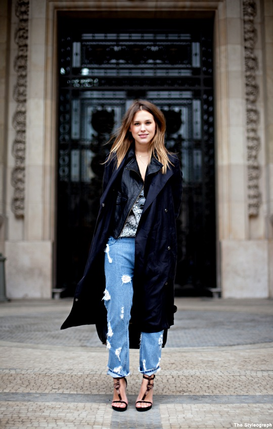 Fashion Week Paris Street Style Sabrina Meijer AfterDRK Dutch Jeans