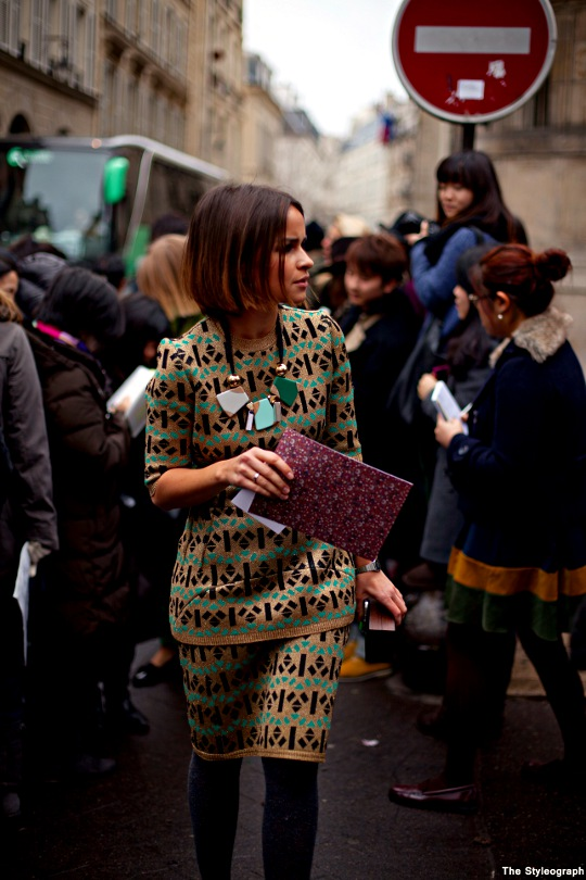 Paris Fashion Week Street Style Miroslava Duma Hèrmes