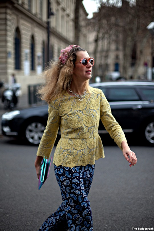 Natalie Joos Street Style Paris Fashion Week Stella McCartney Pants