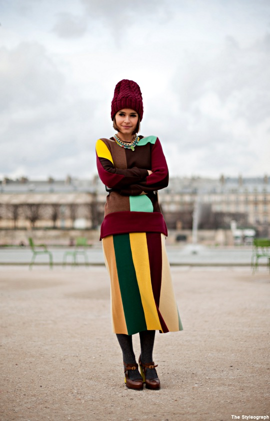 Paris Fashion Week Chloé Street Style Miroslava Duma Colours