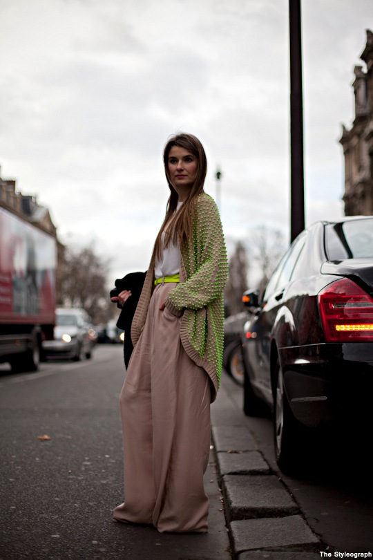 Street Fashion Week Style Paris Palazzo Pants