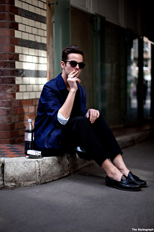 Street Style Men's Fashion Loafers Model