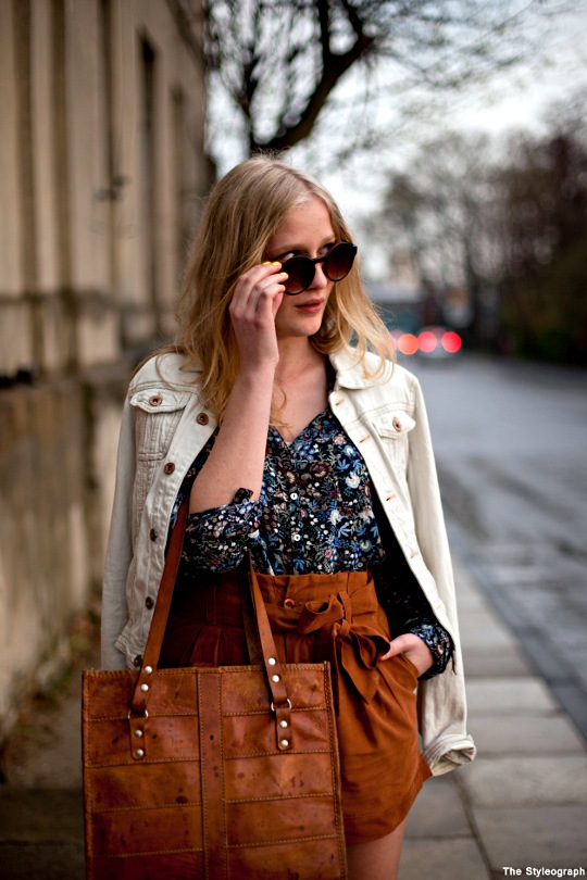 Blogger Street Style Poland Fashion Week Floral Print