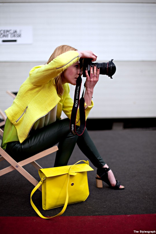 Poland Fashion Week Neon Street Style