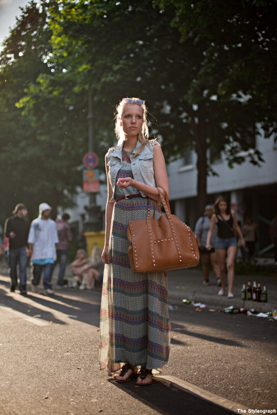 Long Skirt Dress Jeans Vest Street Style Blog Berlin