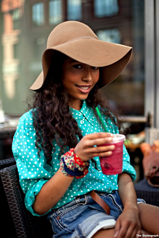 Summer City Street Style Fashion Floppy Dotted Shirt Women