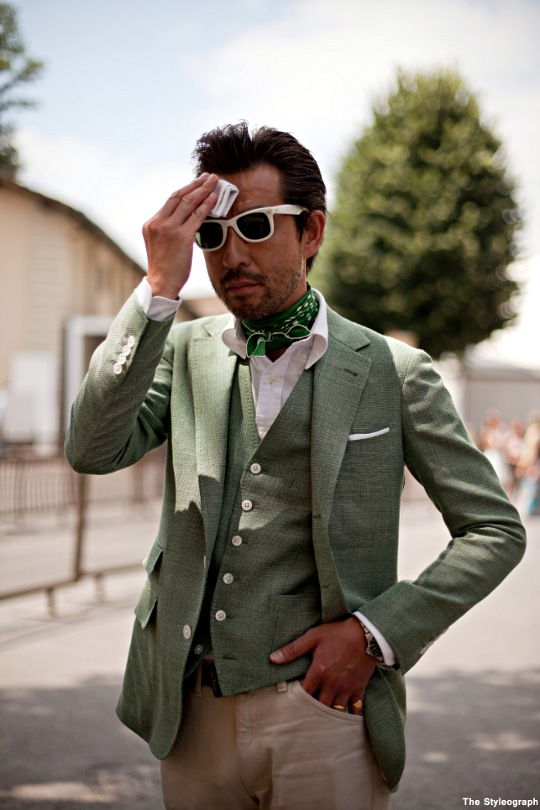 Mr. Miyazaki Tailored Suit Japan Summer Street Style Pitti Uomo