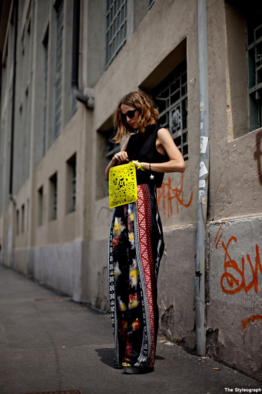 Printed Pants Women Neon Bag Clutch