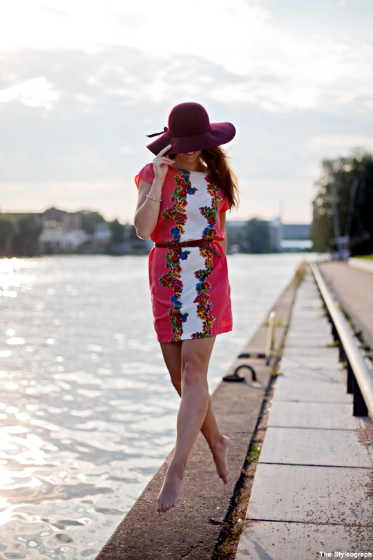 Summer Fashion Women Dress and Floppy Hat