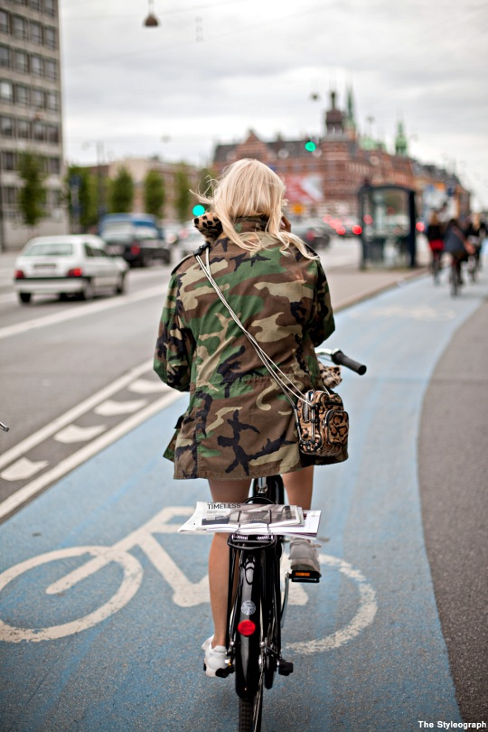 Copenhagen Summer Fashion Week 2012 Bike Military Jacket