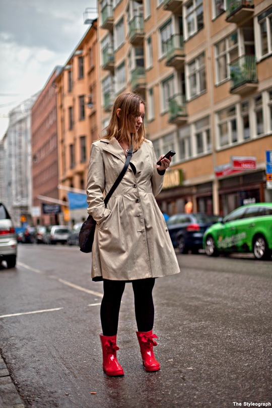 Stockholm coloured gumboots rain women