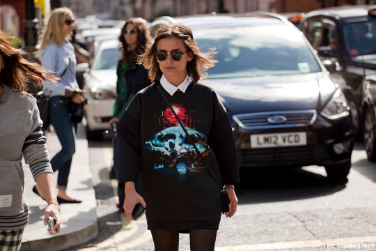 Miroslava Duma Street Style London Fashion Week