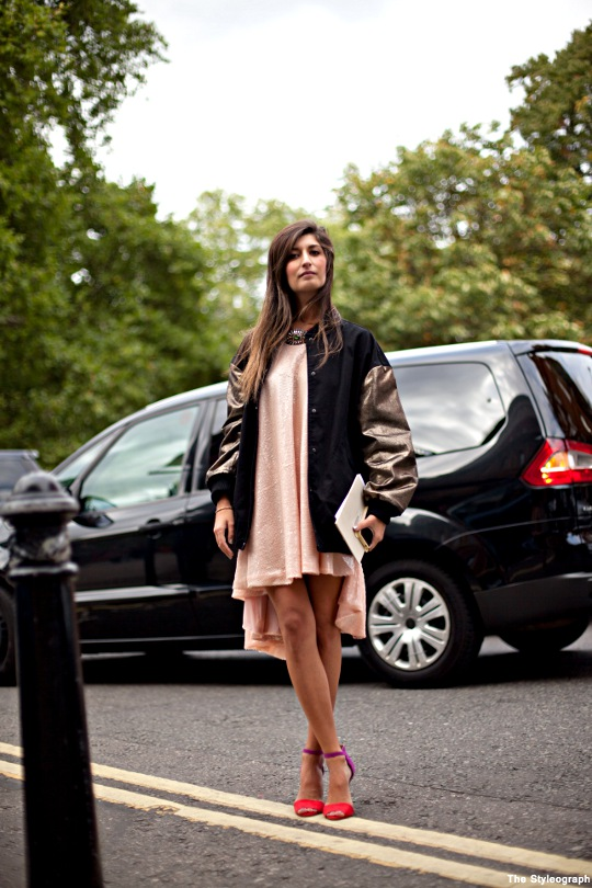 Valentina Siragusa Street Style London College Jacket Dress