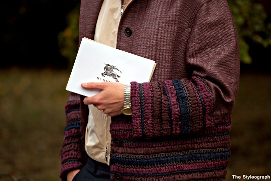 men's jacket burberry london fashion week street style