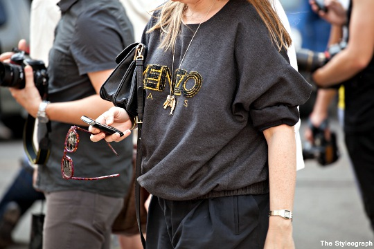 kenzo shirt women milan fashion week