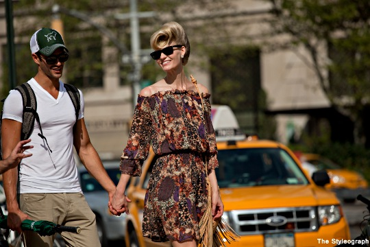 Couple NYC Fashion Week SS13 Street Style