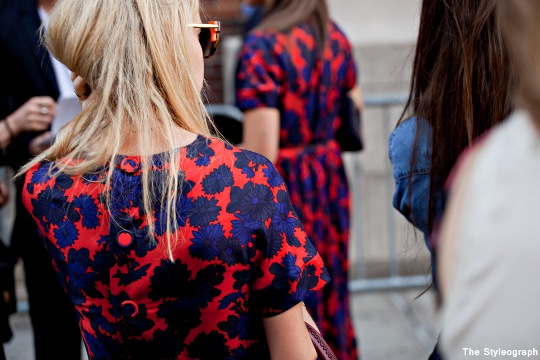 marc by marc jacobs street style new york fashion week dress