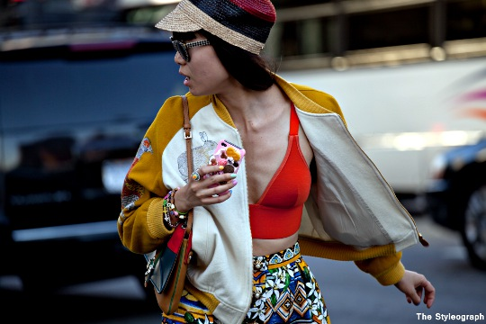 asian fashion editor Leaf Greener street style new york fashion week day 7