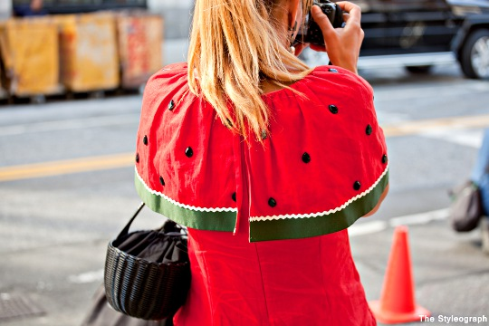 melon dress women street fashion nyfw